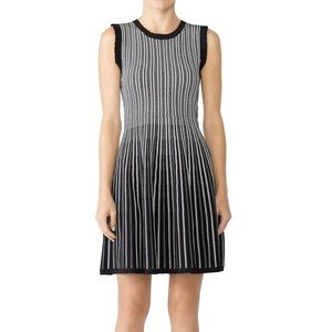 Kate Spade textured stripe sweater dress Small